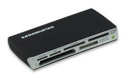 MANHATTAN 100939 :: Четец USB 2.0 external, 60-in-1, черен цвят