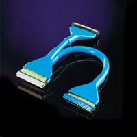 ROLINE 11.03.1537 :: UDMA/ATA133 кръгъл кабел, 3x IDC 40F, 48см, син цвят