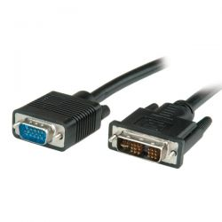 ROLINE 11.99.5420 :: VALUE DVI кабел, DVI M - VGA M, 2.0 м