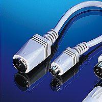 ROLINE 12.03.3515 :: Преходник за клавиатура 5din F към PS/2 M, с 15 см кабел