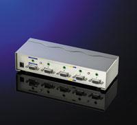 ROLINE 14.99.3514 :: Видео/Аудио сплитер, 4-портов, 400MHz
