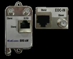 ENCONN EOC-AN/IN :: 100 Mbps Ethernet Over Coax екстендър, 200 м