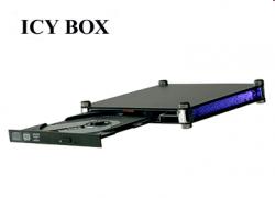 Raidsonic IB-540U-B-BL :: Външна кутия за Slimline & Slot-In оптични устройства, осветяване на панела, USB 2.0 интерфейс