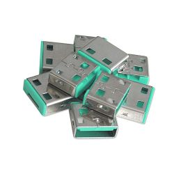 LINDY 40461 :: Допълнителни USB порт блокери за заключваща система Lindy, Зелени, 10 бр.