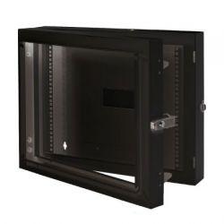 MIRSAN MR.EKG07U.01 :: Double-Section модул за мрежов шкаф за стена - 600 x 150 x 409 мм / 7U, черен