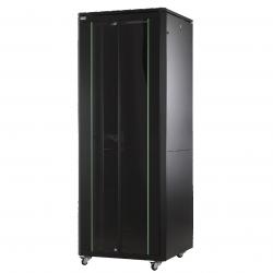 MIRSAN MR.GTAP42U88.11 :: Сървърен шкаф - 800 x 800 x 2053 мм / 42U, D=800 мм, 600 кг товар, черен, свободно стоящ, ALTER Plus