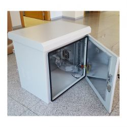"""MIRSAN MR.IP66DR60409U.03 :: IP66 outdoor шкаф, 19"""", 664 x 600 x 470 мм / 9U, D=400 мм, двойни стени, с 2 вентилатора, бял"""