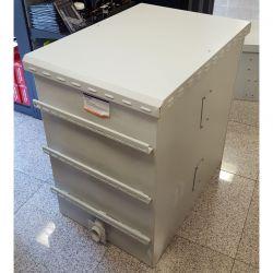 """MIRSAN MR.IP66PTSY609020U.03 :: IP66 outdoor шкаф, 19"""", 670 x 985 x 960 мм / 20U, D=900 мм, двойни стени - 1.5мм, с 4 вентилатора, бял"""