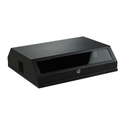 MIRSAN MR.SLM.01 :: Сървърен шкаф Slim Type - 537 x 472 x 146 мм, D=475 мм / 8U (3U+5U), черен, за стена/под/таван, Slim Type