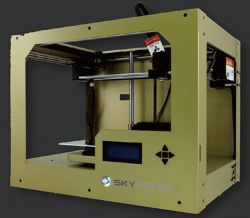 Sky-Tech :: 3D принтер SKYMAKER-A1 Gold, Single Extruder, Single color