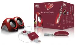 SWEEX SP932 :: Тонколони за лаптоп BOX Rosy Red
