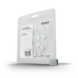 LINDY 40438 :: Допълнителни USB Type-C порт блокери за заключваща система Lindy, Зелени, 10 бр.