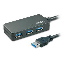LINDY 43159 :: Активен USB 3.0 хъб + 10м удължител