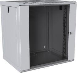 MIRSAN MR.WTC09U45DE.02 :: Сървърен шкаф за мрежово оборудване - 9U, D=450mm, W=565mm, Бял, за стена, Com-Box, Разглобен