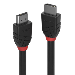 LINDY 36471 :: Кабел HDMI 2.0 Black Line, 4K, 60Hz, 30 AWG, 1m