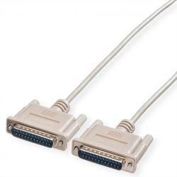 ROLINE 11.01.3530 :: RS-232 сериен кабел, D25 M/M, 3.0 м, монолитен, 25 проводника
