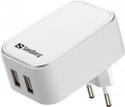 SANDBERG SNB-440-57 :: USB зарядно, Dual USB, 2.4 + 1A