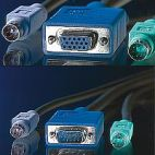 ROLINE 11.99.5455 :: KVM кабел, 1x HD15 M/F, 2x PS/2 M/F, 3C+4, 3.0 м