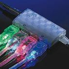 ROLINE 11.99.8903 :: USB 2.0 Light кабел, син цвят, 1.8 м, тип A - B