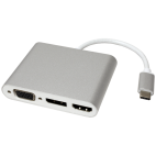 ROLINE 12.03.3230 :: ROLINE USB Type C - VGA/HDMI/DP Adapter, M/F