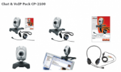 Trust 14667 :: Слушалки и уеб камера Chat & VoIP Pack, CP-2100
