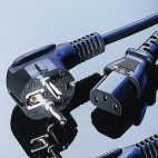VALUE 19.99.1018 :: Захранващ кабел, черен цвят, 1.8 м