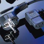 VALUE 19.99.1118 :: Захранващ кабел, ъглов, Schuko, 1.8 м, черен цвят