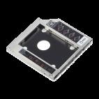 "DIGITUS DA-71108 :: Монтажен адаптор за 2.5"" SSD/HDD към CD/ DVD/ Blu-ray на лаптоп, до 9.5 мм"