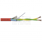 ELAN 242101R :: Alarm Cable, 2x 1.00 Twisted Pair, 400V, Ø 6.0 mm, Shielded, LSZH, 100 m, Red