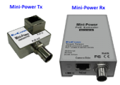 ENCONN EOC Mini-Power :: PoE + Ethernet Over Coax екстендър, 10/100 Mbps, 300 м max, RG59 + RG6