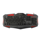 WHITE SHARK GK-1621R :: Gaming keyboard Shogun, red