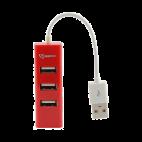 SBOX H-204R :: USB 2.0 хъб, 4 порта, червен