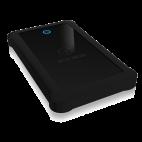 """RAIDSONIC IB-233U3-B :: USB 3.0 външна кутия 2.5"""" SATA HDD/SDD, до 9.5 мм дискове, черна, със силиконов калъфия за"""