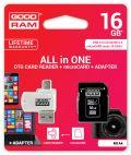 GOODRAM M1A4-0160R11 :: 16 GB MicroSD HC карта с адаптер и четец за карти, Class 10, UHS-1