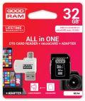GOODRAM M1A4-0320R11 :: 32 GB MicroSD HC карта с адаптер и четец за карти, Class 10, UHS-1