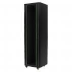 MIRSAN MR.GTE42U61.01 :: Сървърен шкаф - 600 x 1000 x 2020 мм / 42U, D=1000 мм, 600 кг товар, черен, свободно стоящ, Eco