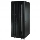 MIRSAN MR.GTS42U61.11 :: Сървърен шкaф - 610 x 1000 x 2028 мм / 42U, D=1000 мм, 1000 кг товар, черен, свободно стоящ, Server/Storage