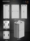 MIRSAN MR.GTS42U81.11 :: Сървърен шкaф - 800 x 1000 x 2028 мм / 42U, D=1000 мм, 1000 кг товар, черен, свободно стоящ, Server/Storage
