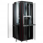 MIRSAN MR.GTV42U66.11 :: Сървърен шкаф - 610 x 610 x 2053 мм / 42U, D=610 мм, 1000 кг товар, черен, свободно стоящ, Versatile