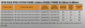 MIRSAN MR.OPR36UDF66.01 :: Сървърен шкаф - 535 x 660 x 1700 мм, D=660 мм / 36U, отворен, черен, OPEN RACK DOUBLE FRAME