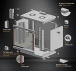 MIRSAN MR.WTN07U45.01 :: Сървърен шкаф за мрежово оборудване - 600 x 450 x 423 мм, D=450 мм / 7U, черен, за стена