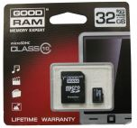 GOODRAM SDU32GHC10AGRR9 :: 32 GB Micro SDHC карта с SD адаптер, Class 10