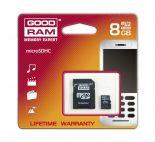 GOODRAM SDU8GHCAGRR9 :: 8 GB Micro SDHC карта с SD адаптер, Class 4