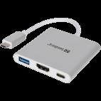 SANDBERG SNB-136-00 :: Докинг станция USB-C към HDMI + USB