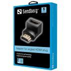 Sandberg SNB-508-61 :: HDMI 2.0 ъглов адаптер 90°