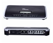 GRANDSTREAM UCM6108 :: IP PBX централа, 60 едновременни разговора, 8x FXO, 2x FXS